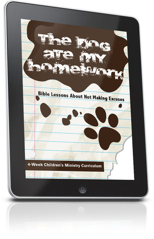 FREE Dog Ate My Homework Children's Ministry Lesson