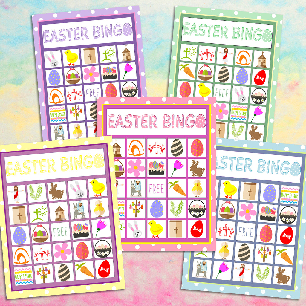 graphic regarding Bible Bingo Printable called Easter Bingo Match for Little ones