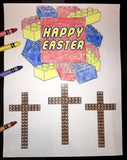 Happy Easter Lego Coloring Page