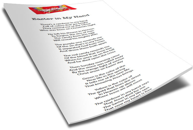 FREE Skittles Easter Poem for Kids