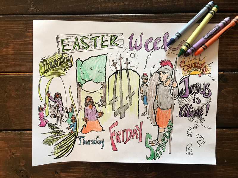 Easter Week Bible Coloring Page