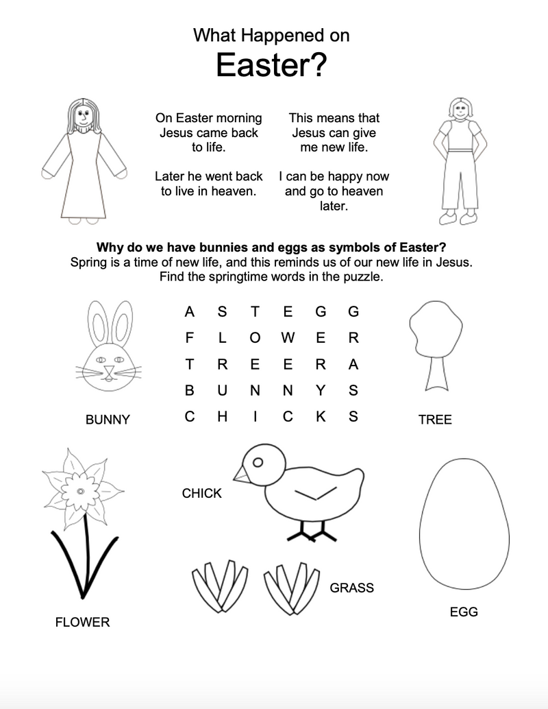 Good Friday and Easter Worksheets for Kids