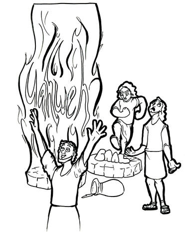sale elijah and the prophets of baal coloring page - Elijah Prophet Coloring Pages