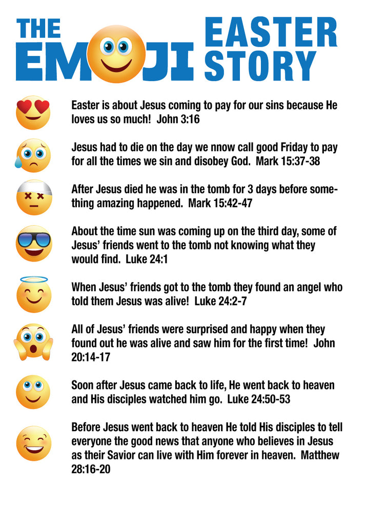 Emoji Easter Story for Kids
