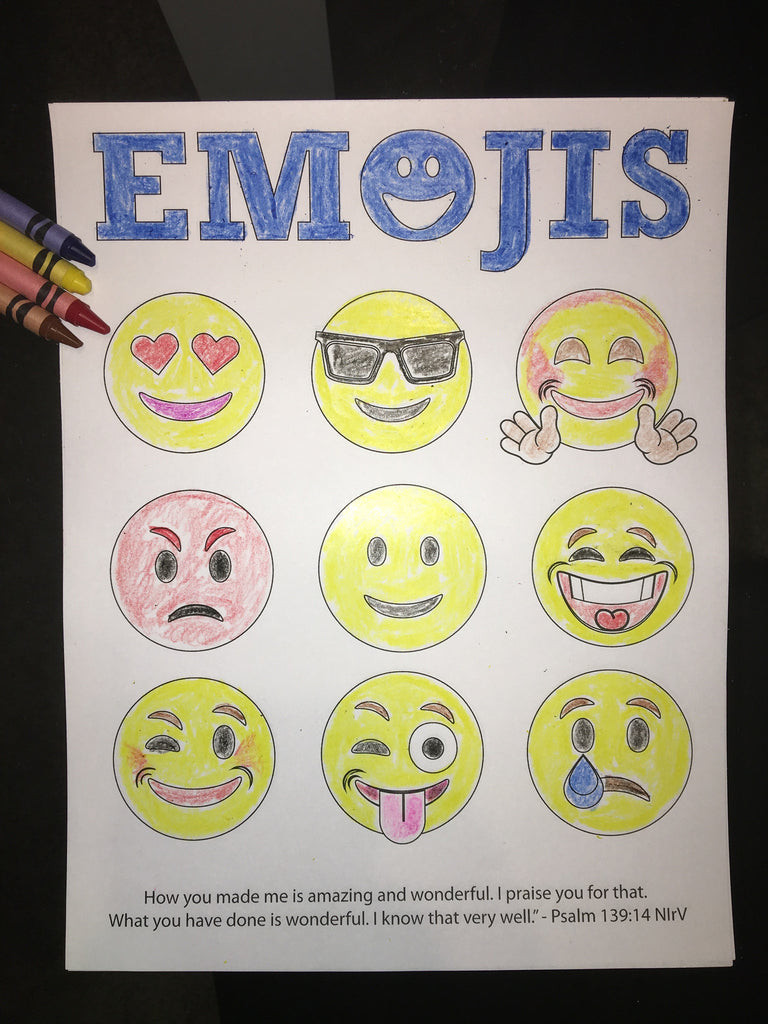 Emojis Bible Verse Coloring Page Children S Ministry Deals