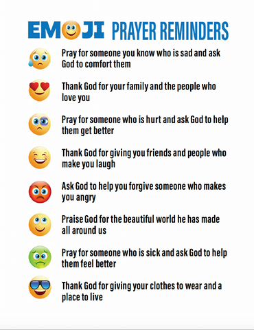 Emoji Prayer Reminders