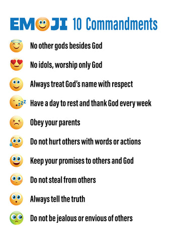 FREE Emojis 10 Commandments Printable