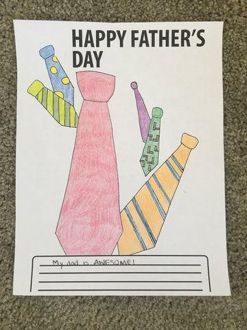 FREE Father's Day Coloring Page- Tie