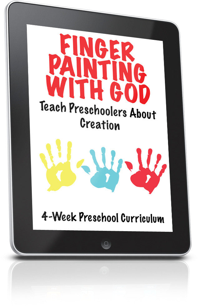 FREE Finger Painting With God Preschool Ministry Lesson