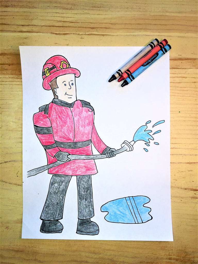 FREE Fireman Coloring Page