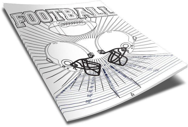 Football Coloring Page Super Bowl