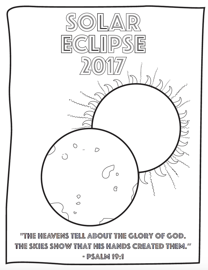 Eclipse Coloring Page for Kids