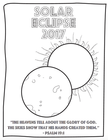 Free solar eclipse coloring page for kids children 39 s for Solar eclipse coloring page