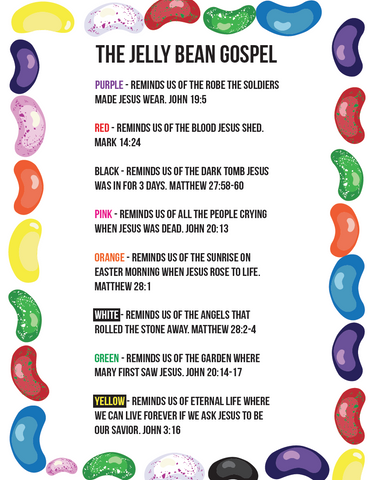 Jelly Bean Gospel Cards for Kids