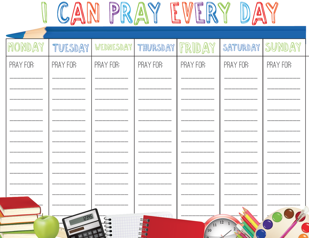 Youth Ministry Calendar Ideas : Back to school prayer calendar children s ministry deals