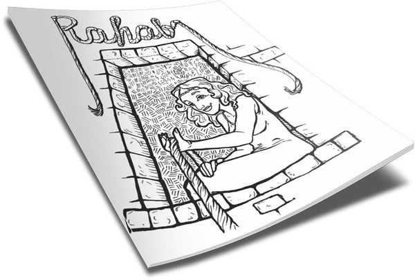 free m&m coloring pages | Rahab Coloring Page – Children's Ministry Deals
