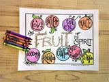FREE Fruit of the Spirit Coloring Page