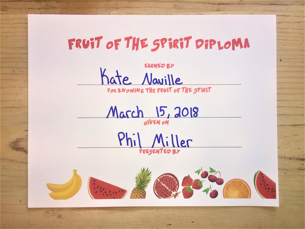 Fruit of the Spirit Diploma