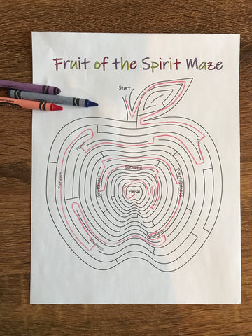 Fruit of the Spirit Maze