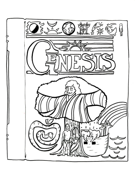 genesis chapter 1 coloring pages - photo#2