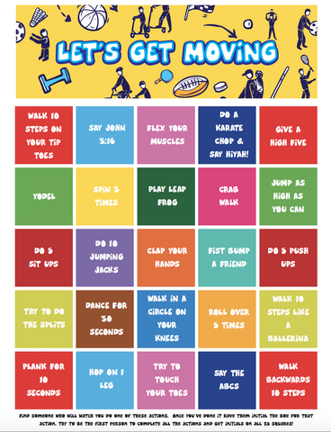 Get Moving Bingo Game