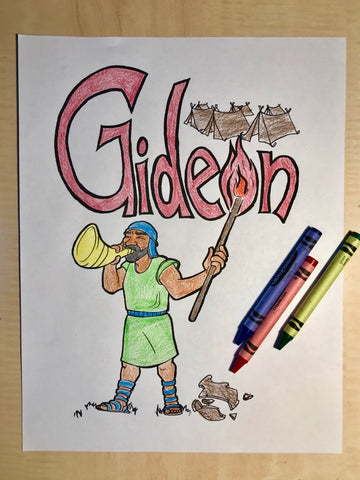 FREE Gideon Coloring Page