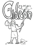 gideon coloring pages for sunday school | Gideon Coloring Page – Children's Ministry Deals