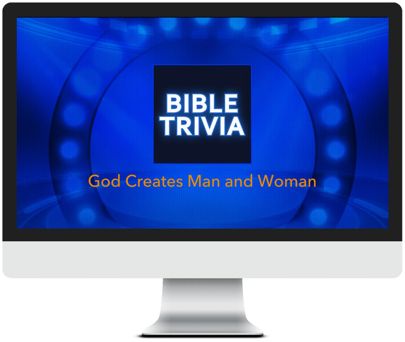 God Creates Man and Woman Bible Trivia Game for Kids