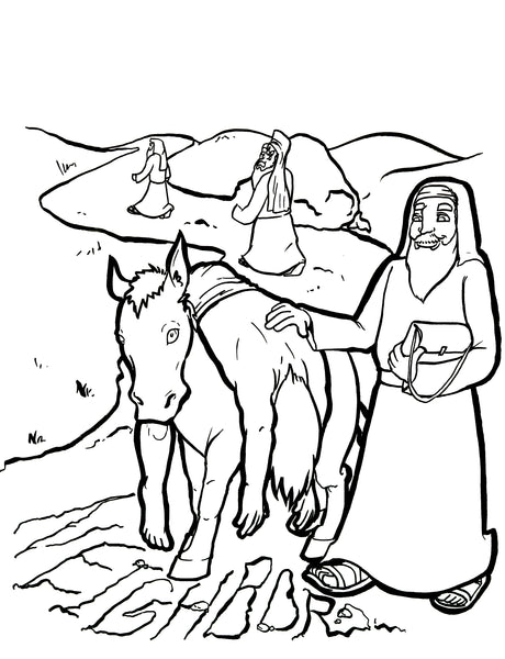 Astounding image with good samaritan coloring page printable