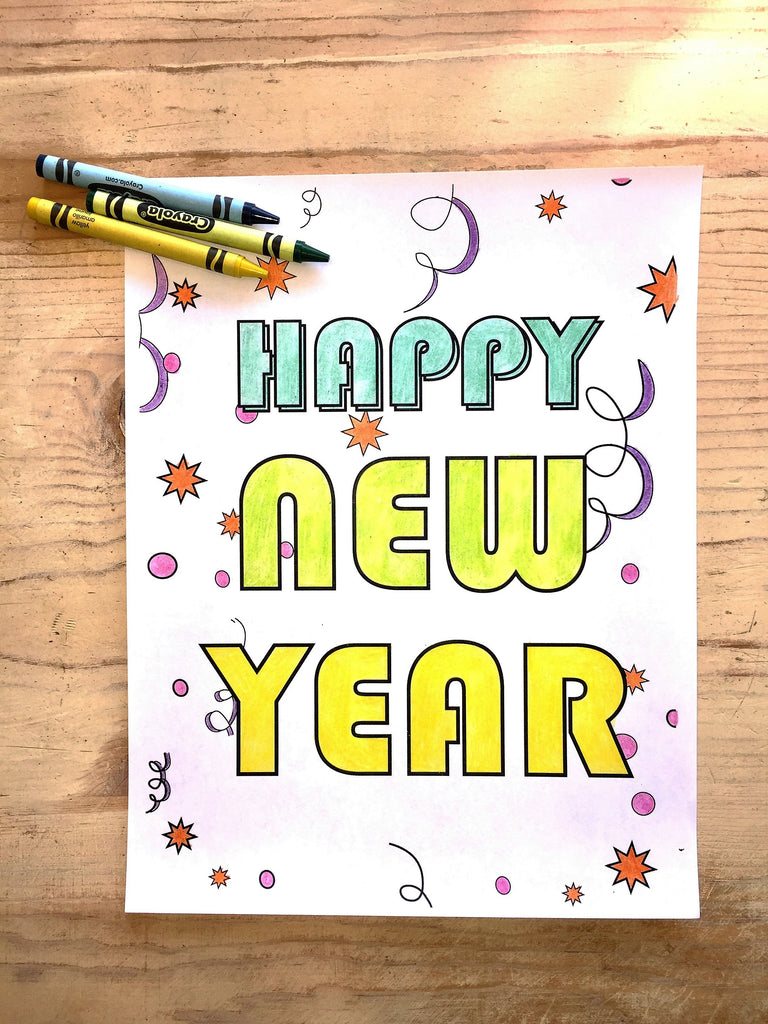 FREE New Year's Coloring Page