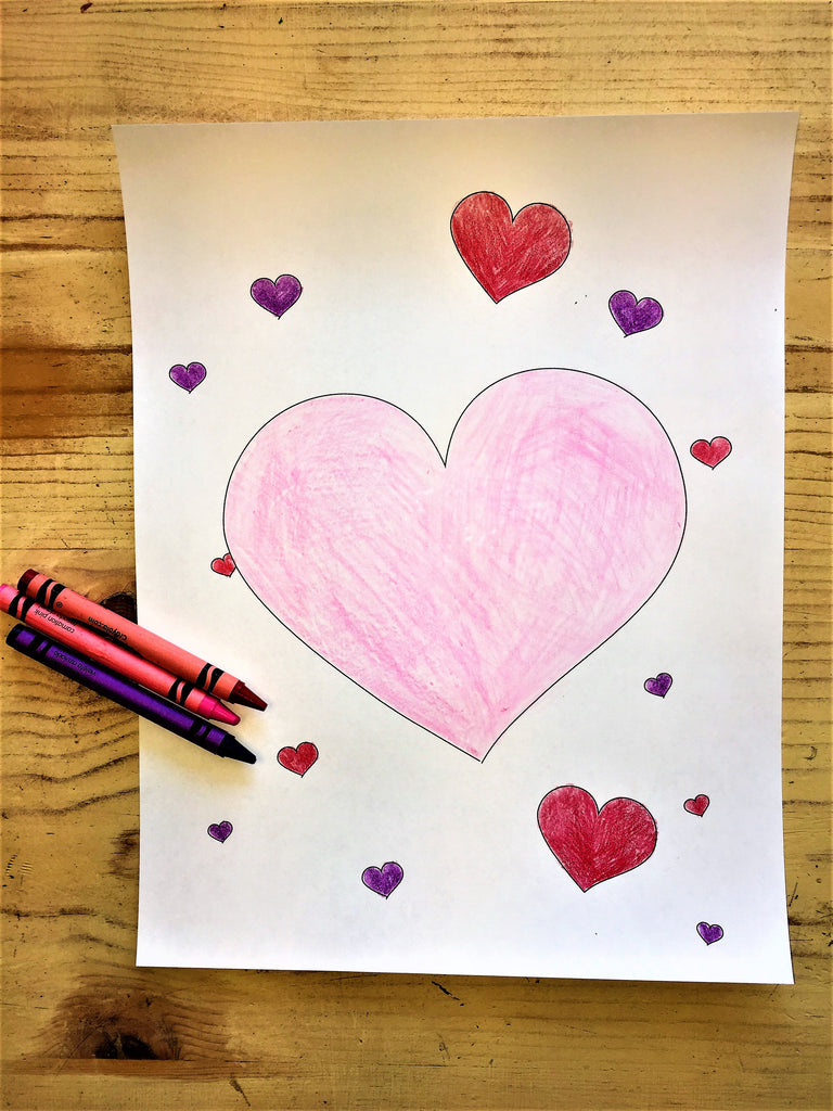 FREE Valentine's Hearts Coloring Page
