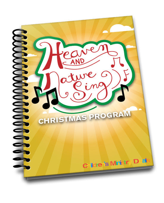 heaven and nature sing christmas program children s ministry deals