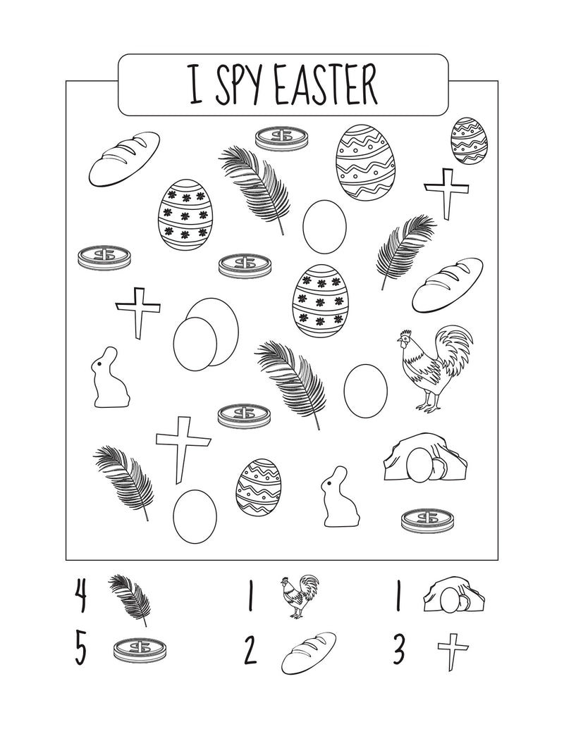 I Spy Easter Worksheet