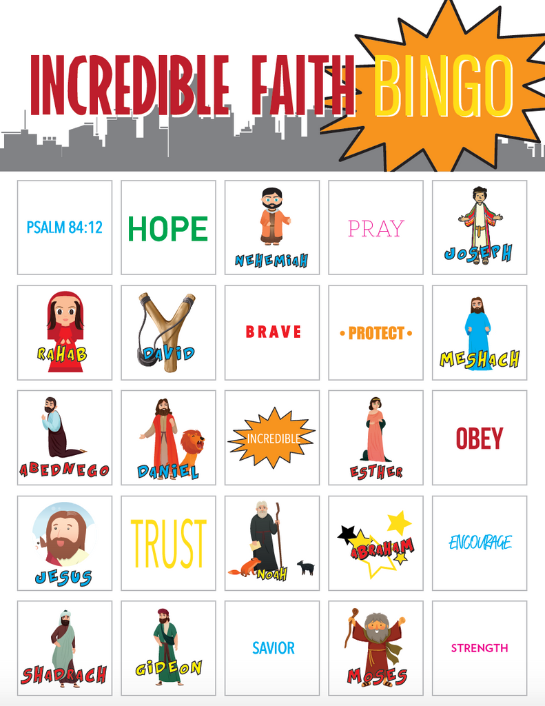 Incredible Faith Bingo