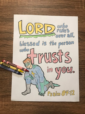 FREE Incredible Faith Coloring Page