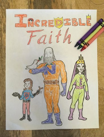 Incredible Faith Coloring Page