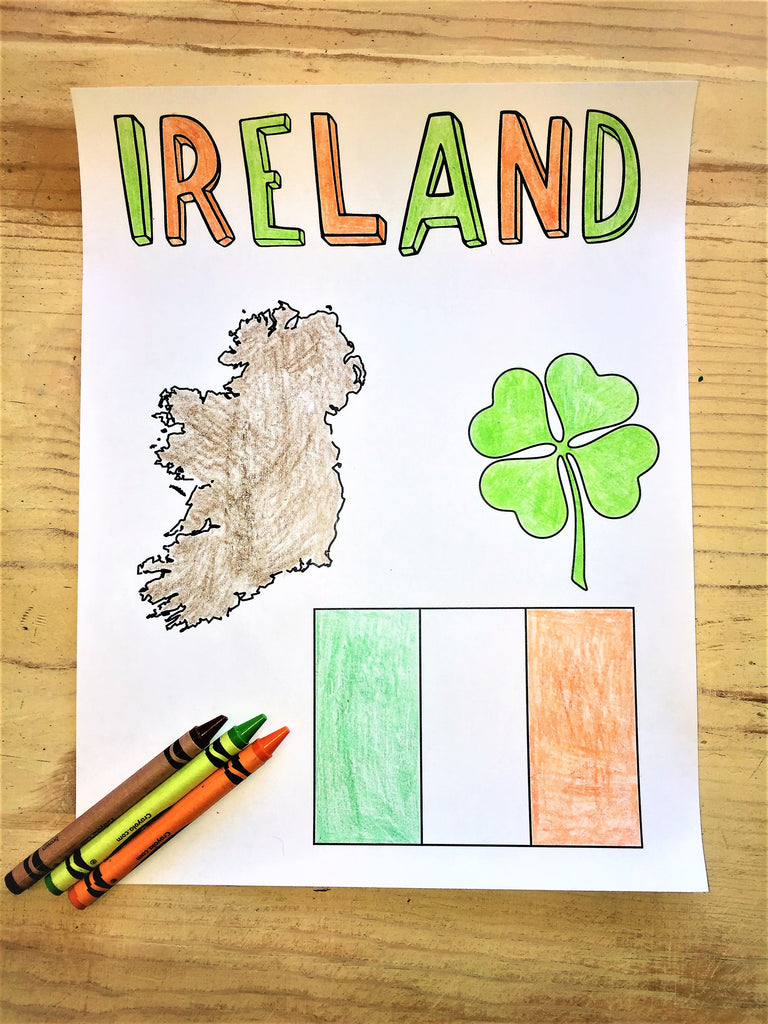 FREE Ireland Coloring Page