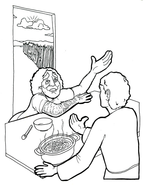 Jacob And Esau Coloring Pages Jacob and Esau Colorin...