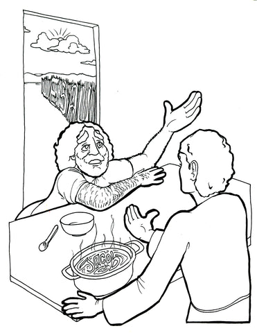 Sale Jacob And Esau Coloring Page