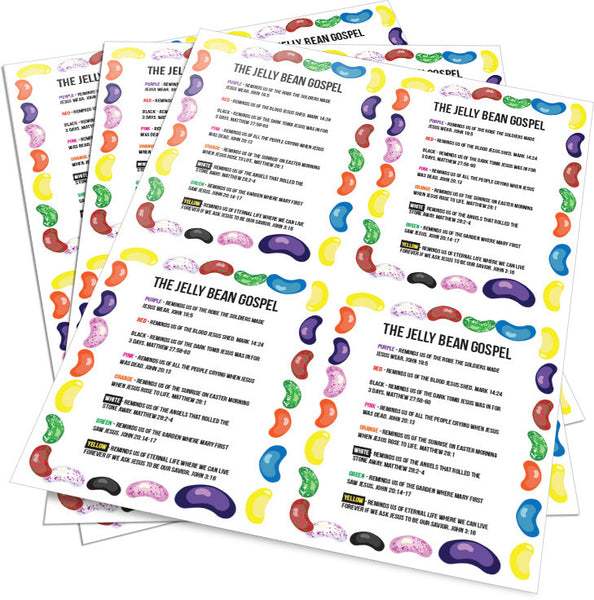 picture relating to Jelly Belly Logo Printable referred to as Jelly Bean Gospel Playing cards for Young children