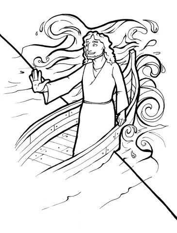 Jesus Calms The Storm Coloring Page – Children\'s Ministry Deals