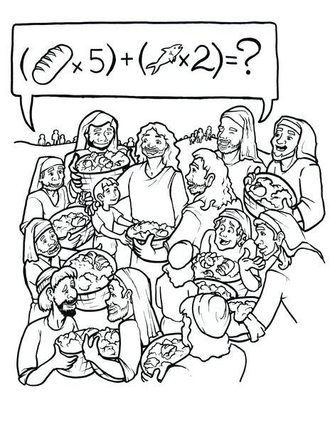 jesus feeds the 5000 coloring page - jesus feeds 5000 coloring page children 39 s ministry deals
