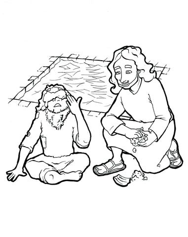 Jesus Heals The Blind Man Coloring Page Children S Ministry Deals