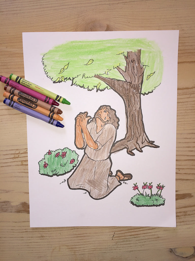 Jesus Prays In The Garden Coloring Page – Children\'s Ministry Deals