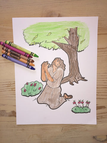 FREE Jesus Praying in the Garden Coloring Page