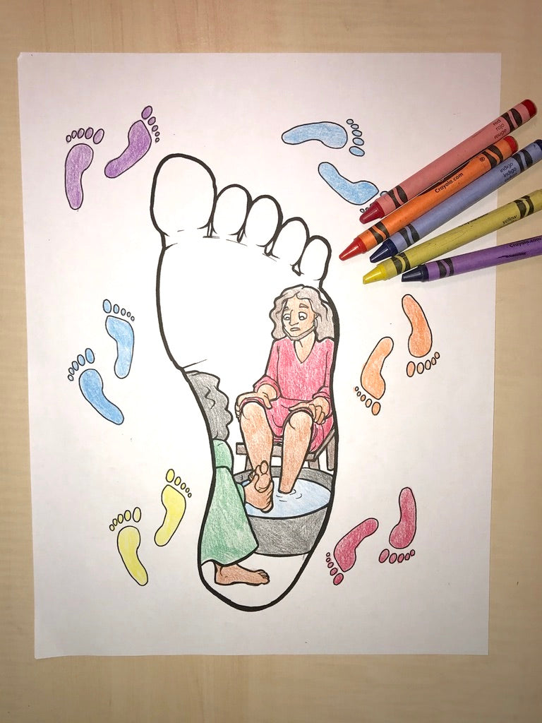 Jesus Washes His Disciples Feet Coloring Page