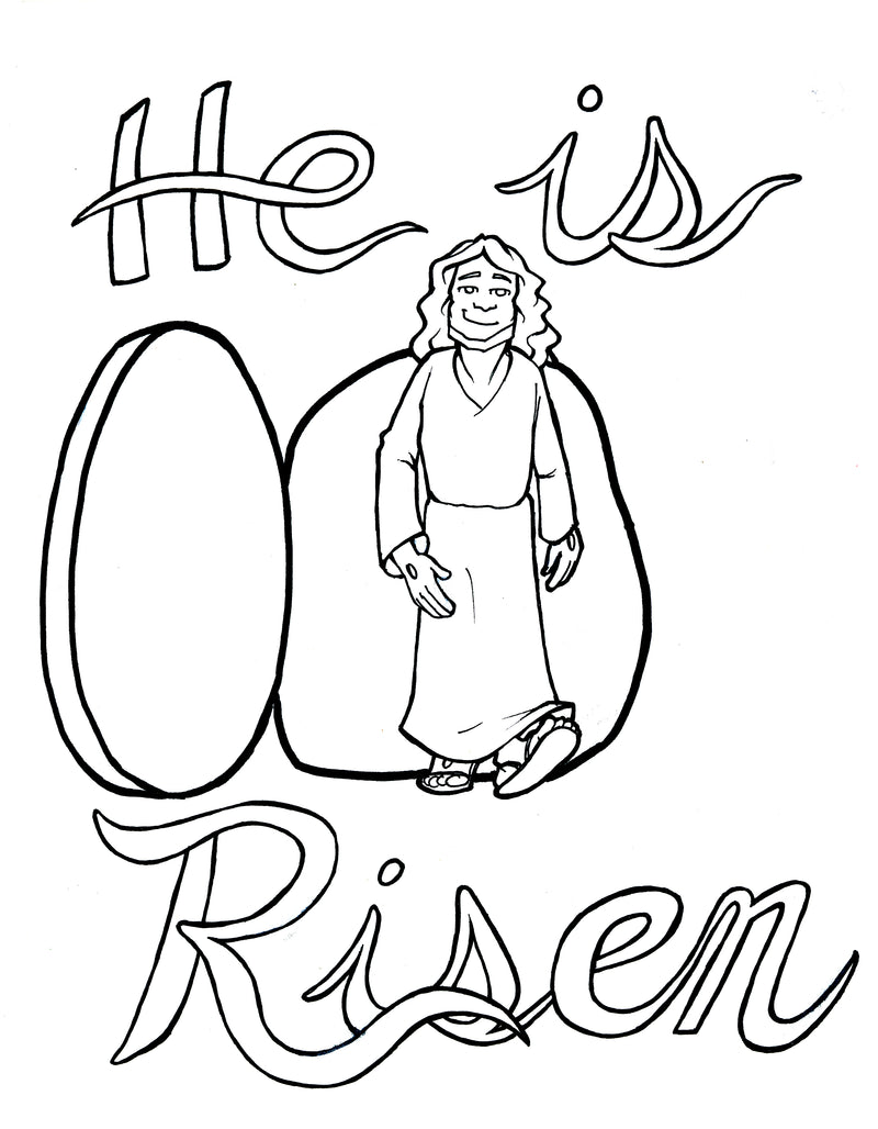 Jesus Is Risen Coloring Page