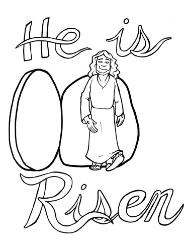 ... Jesus Is Risen Coloring Page