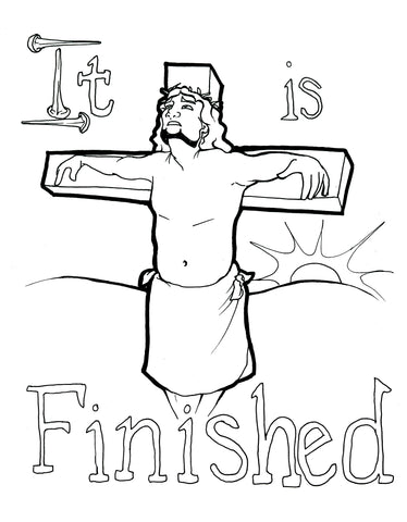 Jesus On The Cross Coloring Page Children S Ministry Deals