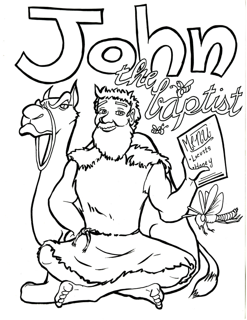 John The Baptist Coloring Page Children 39 s Ministry Deals